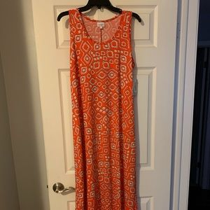 Floor length tank dress